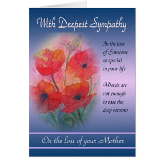 Loss of Mother - With Deepest Sympathy Card