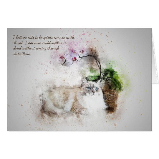 Loss of Pet Cat Jules Verne Quote Custom