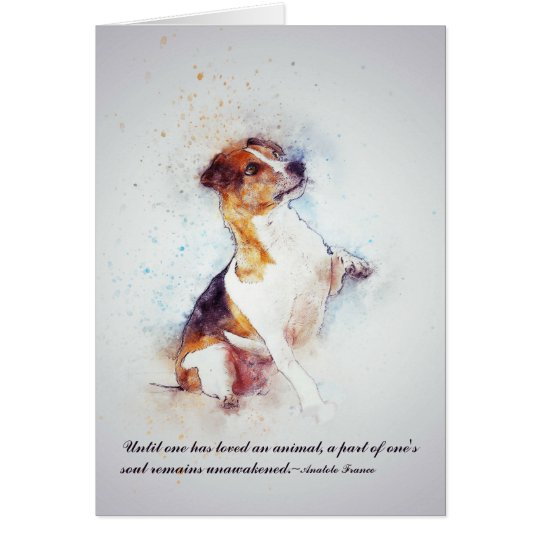Loss of Pet Dog Custom Sympathy Card