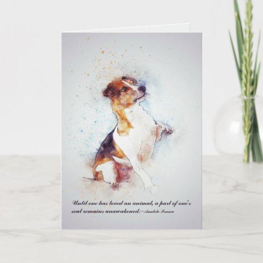 Loss Of Pet >> Loss Of Pet Dog Jack Russell Custom Sympathy Card