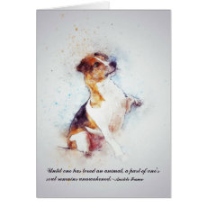 Loss of Pet Dog (Jack Russell) Custom Sympathy