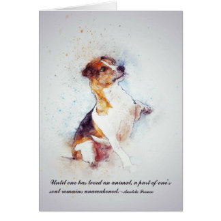 Loss of Pet Dog  (Jack Russell) Custom Sympathy Card
