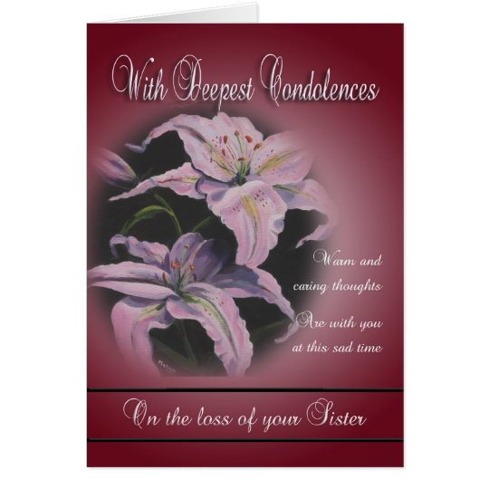 Loss of Sister - With Deepest Condolences Card