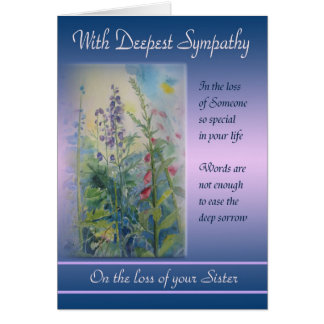 Loss of Sister - With Deepest Sympathy Card