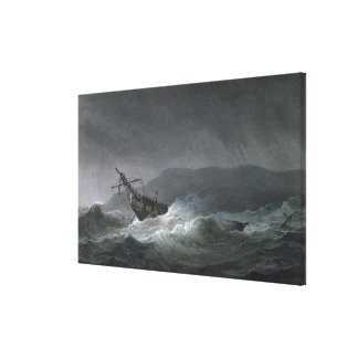 Loss of the Blanche, off Abrevack, 4th March, 1807 Canvas Print