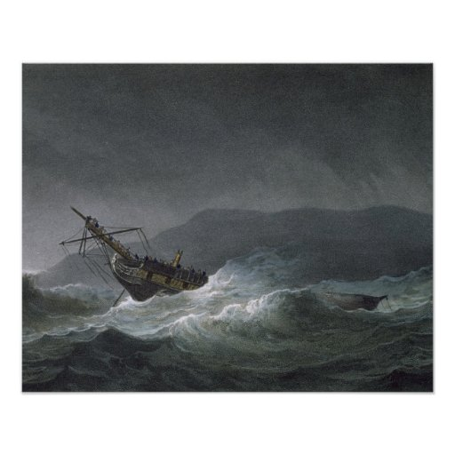 Loss of the Blanche, off Abrevack, 4th March, 1807 Poster