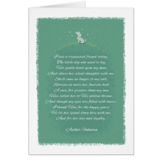 Lost A Treasured Friend - Female Dog - Poem Card
