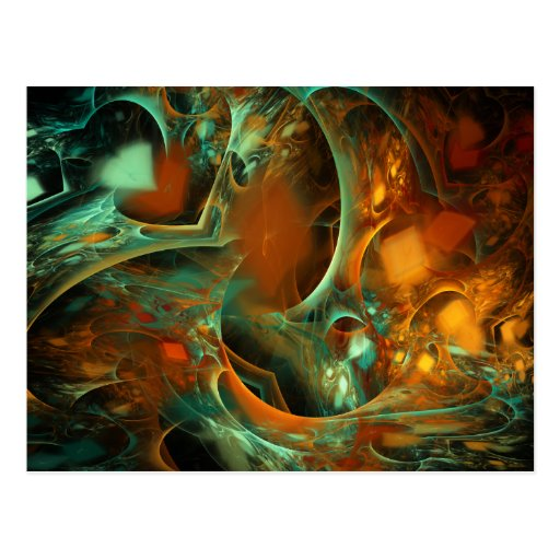 Lost Again Abstract Fractal Postcards