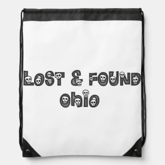 Lost and Found Ohio Skulls drawstring backpack