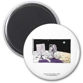 Lost Astronaut Funny Magnet