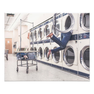 lost at Laundromat Photo Print