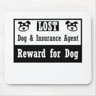 Lost Dog Insurance Agent Mouse Mat