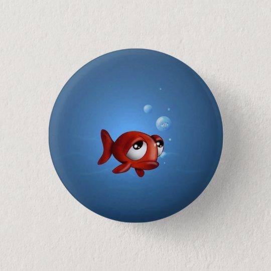 Lost fish 3 cm round badge
