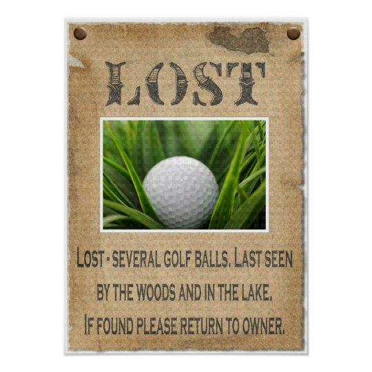 LOST - Golf Ball Poster