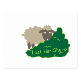 Lost Her Sheep Post Card