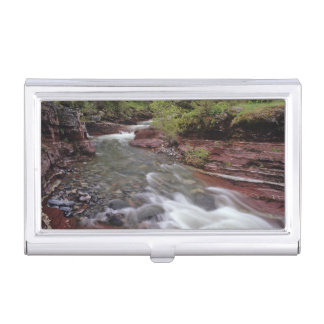 Lost Horse Creek in Waterton Lakes National Park Business Card Holder