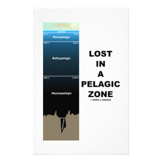 Lost In A Pelagic Zone (Oceanography Humour) Custom Stationery