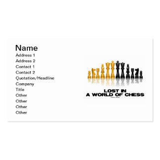 Lost In A World Of Chess (Reflective Chess Set) Pack Of Standard Business Cards