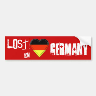 Lost in German - Germany Flag Heart Bumper Sticker