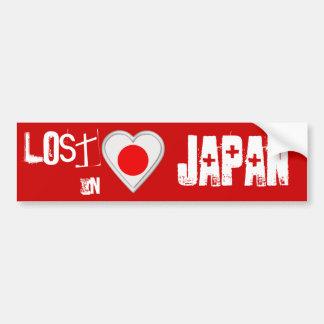 Lost in Japan - Japanese Flag Heart Bumper Sticker