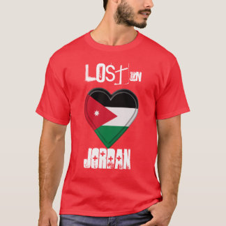 Lost in Jordan Flag Heart T-Shirt