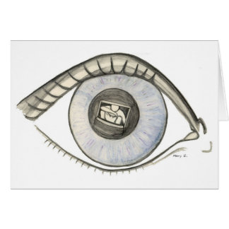 Lost in My Eyes Greeting Card