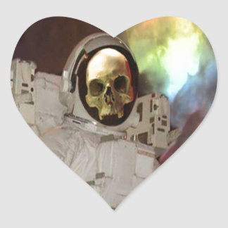 Lost in Space Heart Stickers
