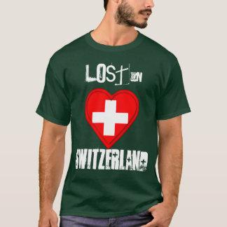 Lost in Switzerland - Swiss Flag Heart T-Shirt