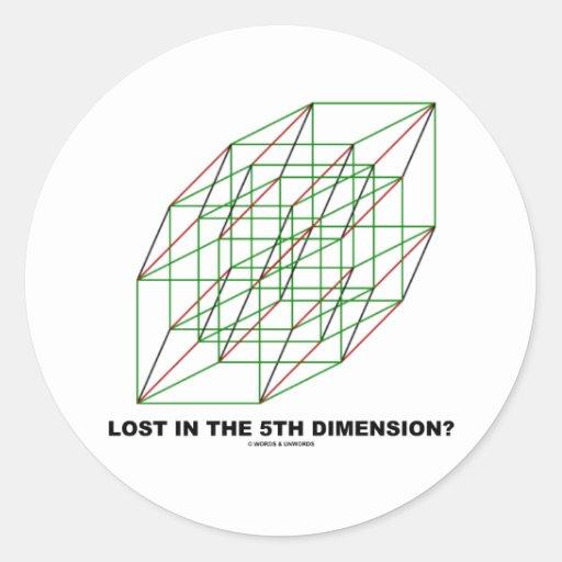 Lost In The Fifth Dimension? (Geometry Attitude) Round Sticker