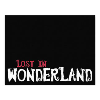 Lost in Wonderland Personalized Invites