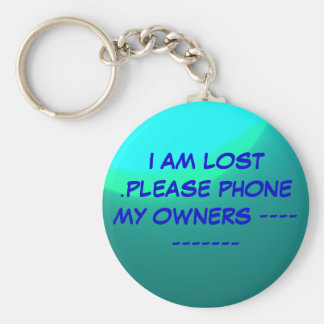 """""""Lost"""" Key ring>Please phone my owners. Key Chain"""