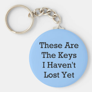 Lost Keys Basic Round Button Key Ring