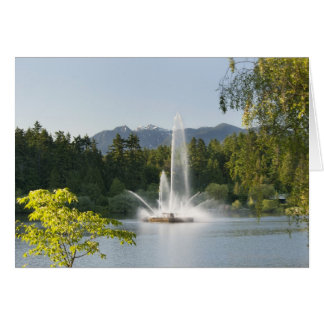 Lost Lagoon Fountain, Stanley Park, Vancouver, Card