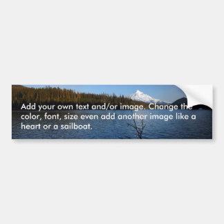Lost Lake, Mt Hood Blank Bumper Sticker