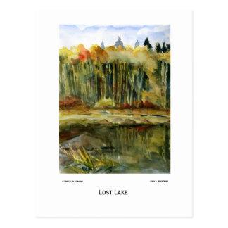 Lost Lake Plein Air Watercolor Painting Postcard