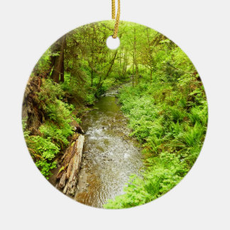 Lost Man Creek II at Redwood National Park Round Ceramic Decoration