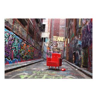 LOST - retro furniture in graffiti laneway Photo