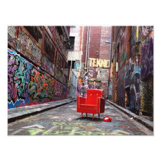 LOST - retro furniture in graffiti laneway Photo Art