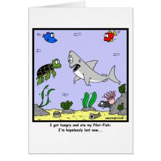 Lost: Shark Cartoon Greeting Card