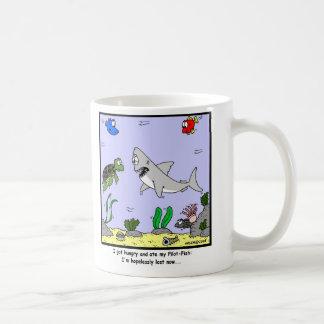 Lost: Shark Cartoon Basic White Mug
