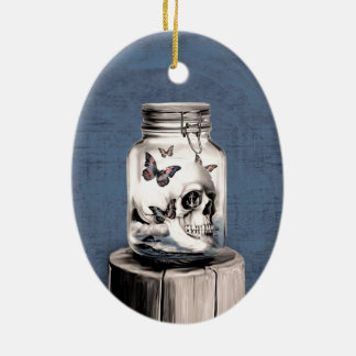 Lost thoughts Nautical skull Christmas Ornament