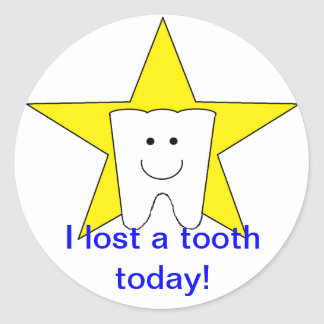 """""""Lost Tooth"""" Stickers"""