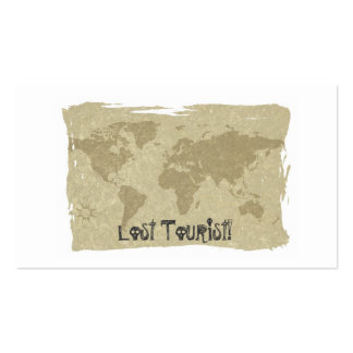 Lost Tourist! bookmark Pack Of Standard Business Cards