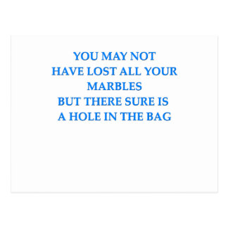 lost your marbles postcards