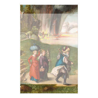 Lot and His Daughters by Albrecht Durer 14 Cm X 21.5 Cm Flyer