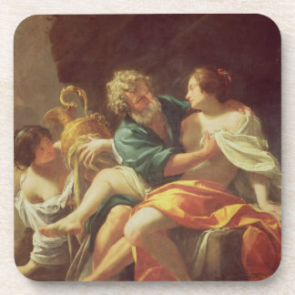 Lot and his Daughters, c.1630 (oil on canvas) Beverage Coaster