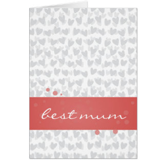 lot of hearts for best mum ever card