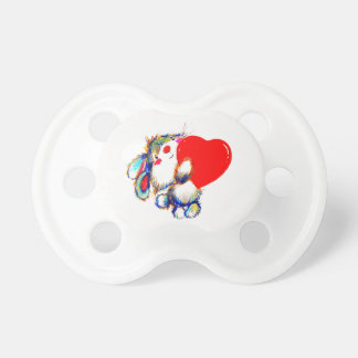Lot of love heavy heart bunny pacifier