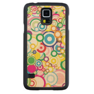 Lot of vivid circles carved maple galaxy s5 case