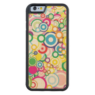 Lot of vivid circles carved maple iPhone 6 bumper case